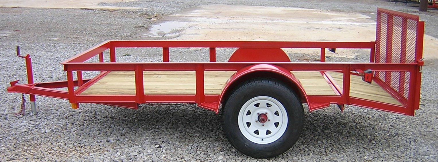 P and T single axle trailer